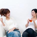 beutiful asian women relaxing on the sofa